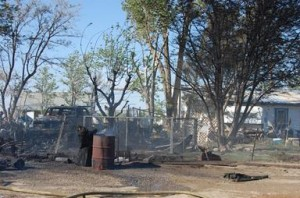 Eight units responded, and firefighters were able to keep the fast moving fire from spreading to the man's adjacent home, authorities said.