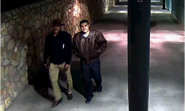 FBI officials released a surveillance photo, which they claim shows Victor Solis and Henry Solis crossing into Juarez from El Paso, Texas on March 14 at approximately 5:40 a.m. (FBI)