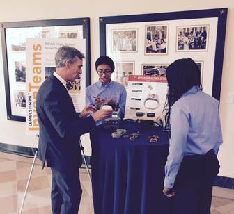 Hernandez and Sinayoko speaking with Bill Nye, of Bill Nye The Science Guy.