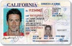 An AB 60 license has a visible distinguishing feature and cannot be used for certain federal purposes. (DMV)