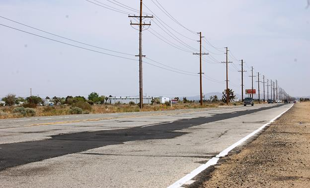 The project is part of the sewer project that was recently completed to bring lines to the 600-acre parcel owned by the city where the Palmdale Power Plant and a future business park will be constructed.