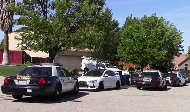 During the afternoon of April 1, 2015, deputies responded to a West Palmdale home in the 2500 block of Alexander Avenue regarding a baby not breathing, according to a Palmdale Sheriff's Station crime broadcast. (Photo by LUIS MEZA)
