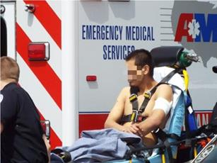 The injuries did not appear to be life-threatening. (LUIS MEZA)