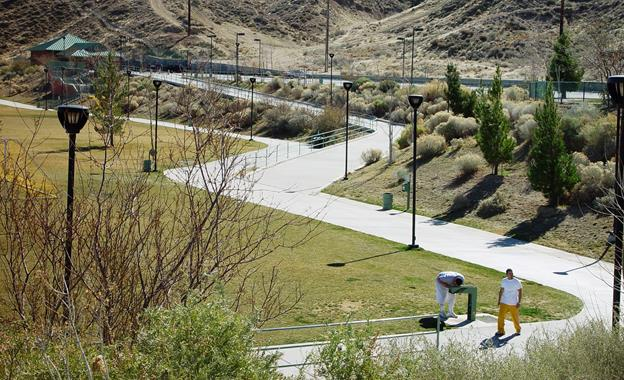 The renovation project includes walking trail improvements.