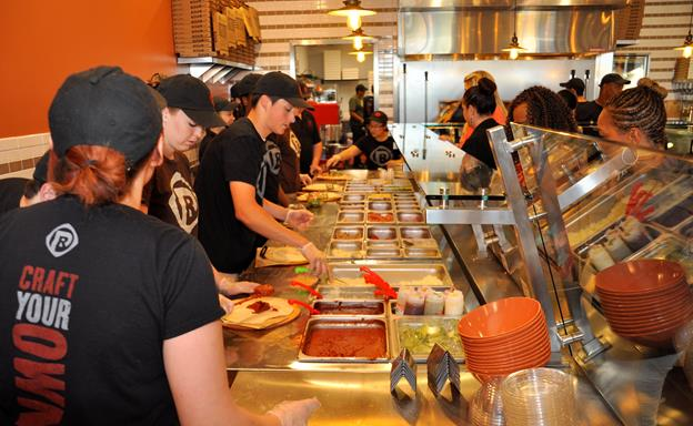 """PizzaRev is a """"craft your own pizza"""" restaurant that allows customers to fully customize a personal-sized 11-inch pizza for one price. The new restaurant is located at 748 W. Rancho Vista Blvd. (at the Shops at Rancho Vista Gateway) in Palmdale."""
