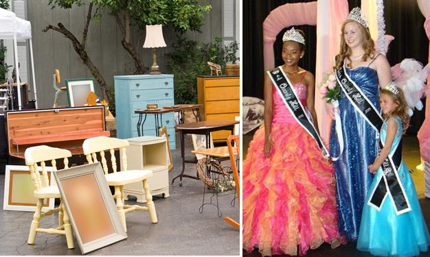 [Right image] Aniya Cosby, Kristine Andrews and Gracie Jay courtesy Quartz Hill Community Queens' Facebook page.