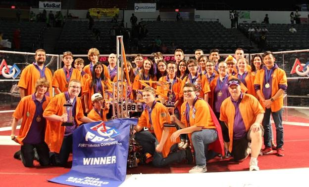 Team 399 Eagle Robotics (pictured) and the Robolopes of AV High, alongside one other team, won the San Diego Regional. (contributed photo)