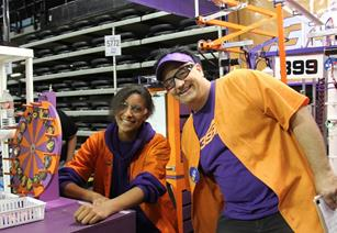 Kirsten Barrow and Lead Advisor David Voracek in the pits. (contributed)