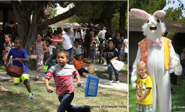 More than 200 children scramble for treats at last year's Egg-tastic Hunt, according to organizers. The Easter Bunny was also a hit at last year's event. (Contributed photo)
