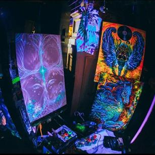 Antelope Valley native Armando Rosete will showcase a black-light art exhibit . (contributed)