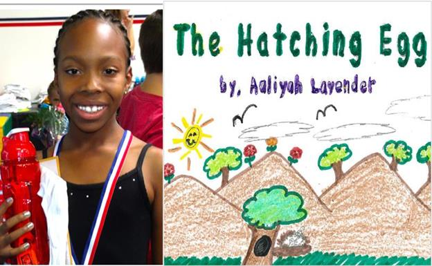 "Aaliyah's winning entry, titled ""The Hatching Egg,"" tells the story of a bird family that is preparing to have a baby bird. (contributed)"