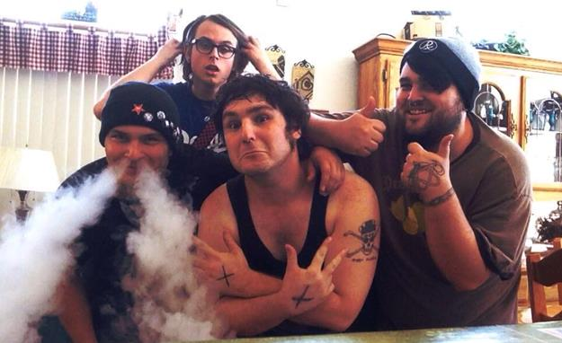 Members of the punk band Autistic Chainsaw, from the left, include drummer Tony Schnitzel, bassist Kenneth F. Catando III, singer Jesse Seibel, and lead guitarist Kameron Chance. (photo courtesy Autistic Chainsaw)