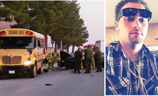 [Left image] The fatal Palmdale crash occurred around 6:10 a.m. Tuesday, Jan. 13, on 40th Street East, north of Bella Vita Way. [Right image] Douglas Fiddament, Facebook photo