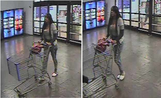 Palmdale Station Detectives are seeking the public's help in identifying the suspect pictured. She is wanted for grand theft, according to Palmdale Community Relations deputy Jodi Wolfe. (Images courtesy LASD&