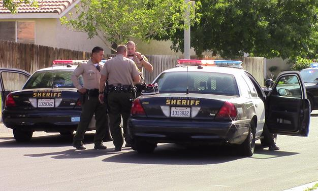 Deputies responded around 4 p.m. Tuesday, May 19, to the 44000 block of Canyon Way in Lancaster. The victim was shot in the upper body and a revolver was found at the scene, officials said. (Photo by LUIS MEZA)
