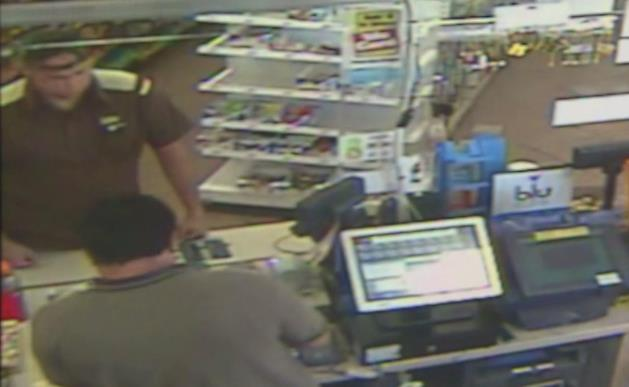 Chevron station manager Shamsun Islam provided surveillance photos to the media in hopes of tracking down the mystery man, who was later found to be an undercover California Lottery investigator.