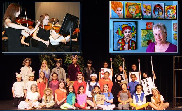 Concert performances, community art and theatrical performances from local youth are all included in Palmdale Playhouse's summer schedule of entertainment. (contributed images)