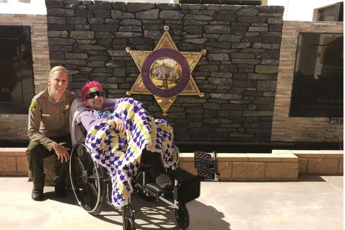 An immediate friendship bloomed between Patricia Moore and Deputy Danielle Day. (LASD photo)