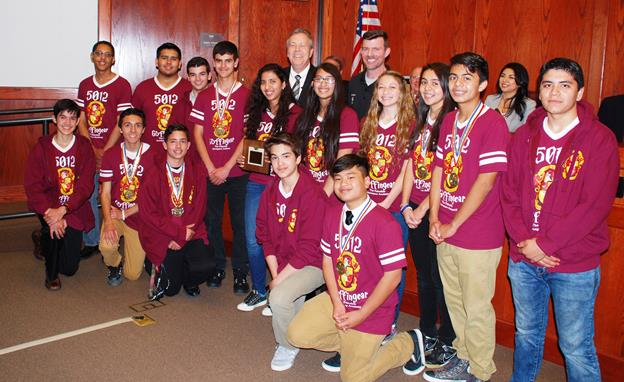 Team 5012 Gryffingear and Palmdale Mayor Jim Ledford. (contributed)