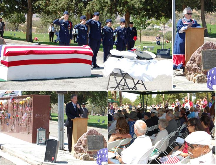 More than 200 people came out to Desert Lawn Memorial Park in Palmdale Monday for a Memorial Day Ceremony presented by the Antelope Valley Service Organization Association.