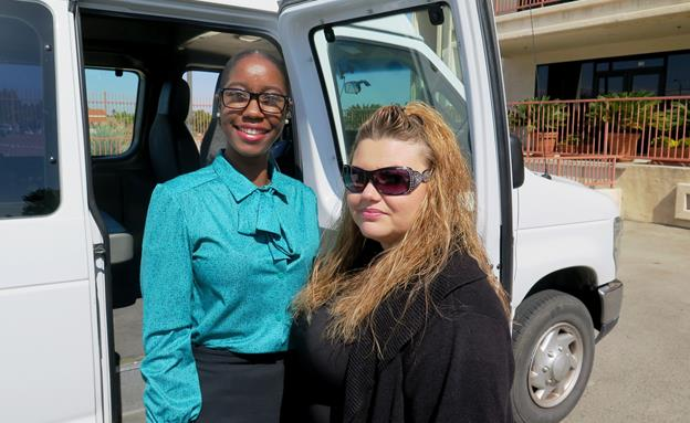 Shievon Cammon (left) and Crystal Johnson (right) are taking advantage of the AVTA Employment Travel Program. [contributed photo]