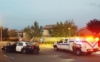 Speed and alcohol are suspected factors in the collision, authorities said. (LUIS MEZA)