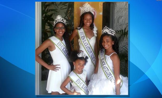[Contributed photo] 2014 Miss Black AV court – Miss Briana Johnson, Junior Miss Akungbe Obazee, Young Miss Simone Zulu, and Little Miss Harmony Ayanna Crossland.