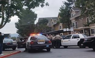 The shooting occurred around 4:20 p.m. May 6 at an apartment complex in the 27500 block of Sierra Highway in Santa Clarita. (Contributed photo by Hector Estrada)