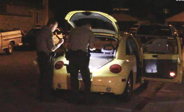 Within 30 minutes of the reported carjacking, the yellow, 1999 Beetle was found abandoned and undamaged near Morven Street and Gillen Avenue in Lancaster, sheriff's officials said. (Photo by LUIS MEZA)