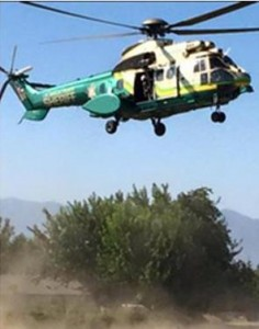 A sheriff's helicopter arrives in Lake Los Angeles Wednesday, July 22. (LASD)