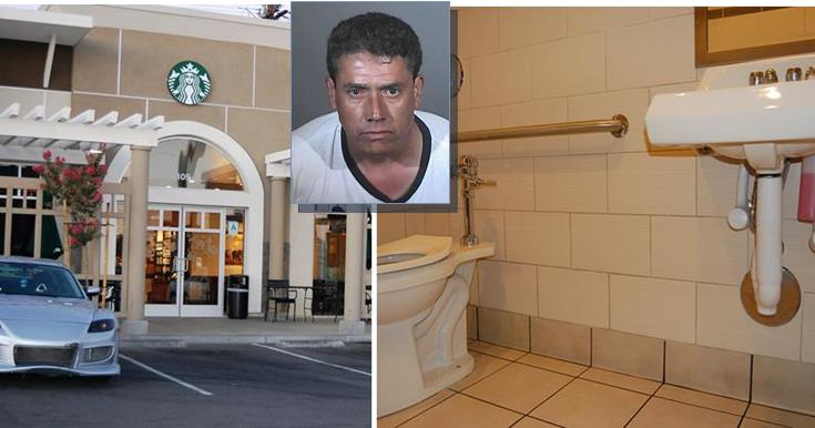 On July 9, a child discovered a cell phone taped to the pipe lining of a sink in the women's restroom at the Starbucks in the 800 block of West Avenue K in Lancaster. Detectives recovered a photo of the suspect from the phone and arrested Antonio Serrano July 16.