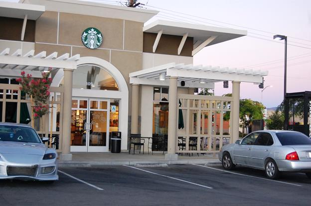 The incident was reported at the Starbucks located at 855 West Avenue K, Suite 105, in Lancaster.