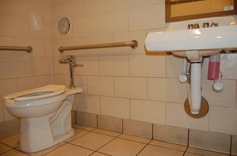 The victim said the cellphone was under the sink propped up with paper towels to direct the camera at the toilet.
