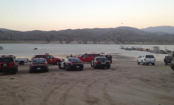 """Around 11:15 a.m. Sunday, Aug. 23, the body of 61-year-old Palmdale resident Clarence William Brumfield was located in Irvine Lake, approximately 25 feet below the surface. (Photo courtesy OCSD twitter page) [View a DMV photo of Brumfield at <a href=""""http://losangeles.cbslocal.com/2015/08/24/authorities-identify-fisherman-who-went-missing-on-irvine-lake/"""" target=""""_blank"""">CBS Local here.</a>]"""