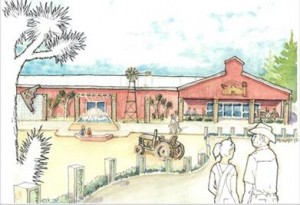 Rendering of the proposed Antelope Valley Rural Museum facility. [contributed]