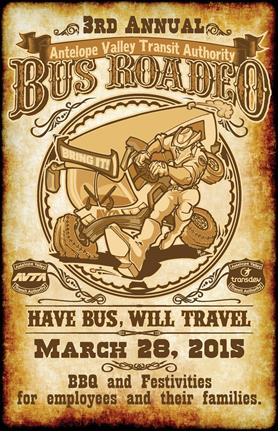 """AVTA received the award for its """"Have Bus, Will Travel"""" poster, created for the third annual AVTA Bus Roadeo held in March."""