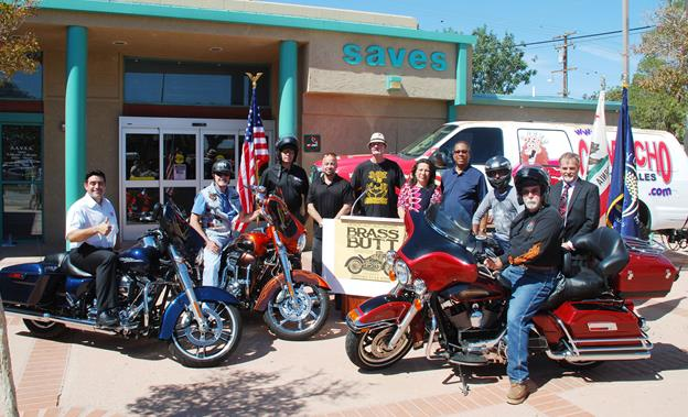"""Brass Butt committee members, supporters and Palmdale city officials gather at a press conference Thursday to announce details for the third annual """"Brass Butt"""" Charity Ride. [contributed]"""