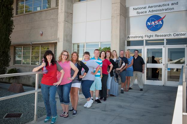 Celebrating 50 years of the show, I Dream of Jeannie, the Facebook group, The Jeannie Journal, visited Armstrong to photograph the NASA building that represented the agency in the series. (NASA / Lauren Hughes)