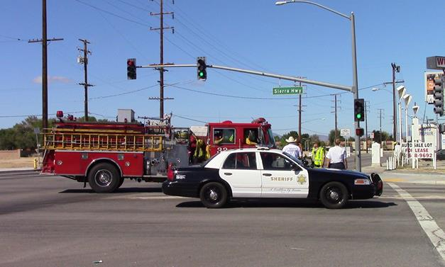 The fatal collision happened in the intersection of Sierra Highway and Avenue I, sheriff's officials said. [Photo by LUIS MEZA]