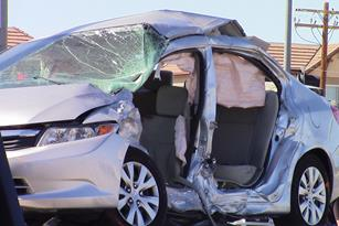 A 2012 Honda Civic was traveling westbound on Avenue I in the No. 1 lane at an unknown speed, officials said. [LUIS MEZA]