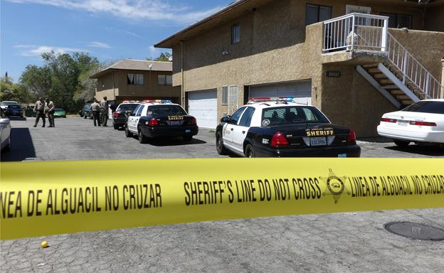 The shooting happened around 12:40 p.m. Wednesday, Sept. 2, in the parking lot of an apartment complex on the 38000 block of 20th Street East in Palmdale, sheriff's officials said. [Photo by LUIS MEZA]