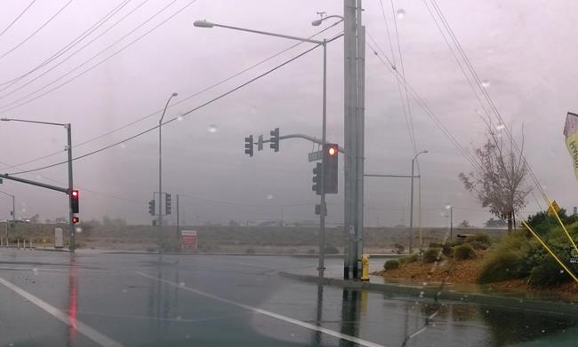 The National Weather Service said record rainfall Tuesday included .64 inches in Lancaster, breaking the 1984 record.