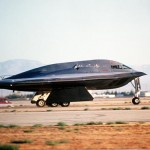 The new bomber is an Air Force priority because the oldest ones in its fleet have far outlived their expected service life and even the newest – the B-2 stealth bombers – have been flying for more than two decades, said Deborah Lee James, the secretary of the Air Force. Image: A B-2 Spirit bomber takes off July 17, 1989, from the Northrop Grumman production facility in Palmdale. [U.S. Air Force photo by Alan Wycheck]