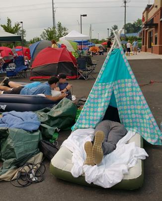 Campers are expected to start lining up 24-hours ahead of the Oct. 15 opening, company officials said Monday. (Image from past opening event courtesy Chick-fil-A)