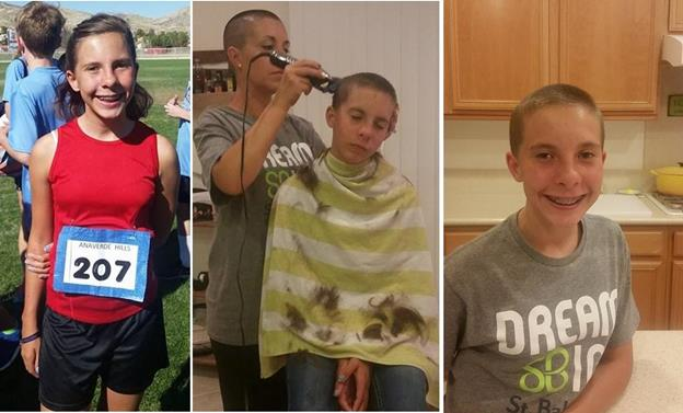 Earlier this month, Faith Rose shaved her head in solidarity with children fighting cancer. [contributed]