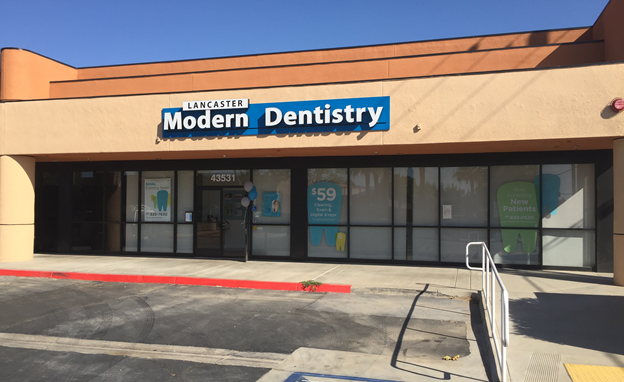 Lancaster Modern Dentistry is located at 43531 10th Street West in Lancaster [on the corner of 10th Street West and Avenue K in the Target shopping center].