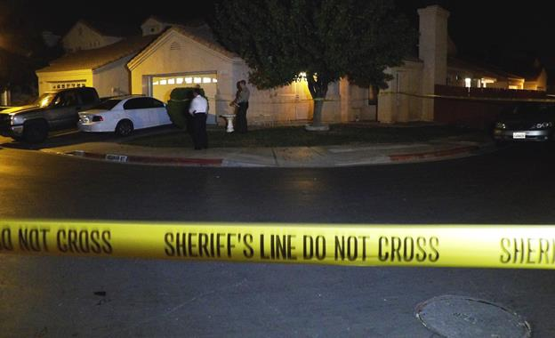 The victim and suspect were attending a family gathering at a residence in the 37600 block of Scomar Street in Palmdale. [Photo by LUIS MEZA]
