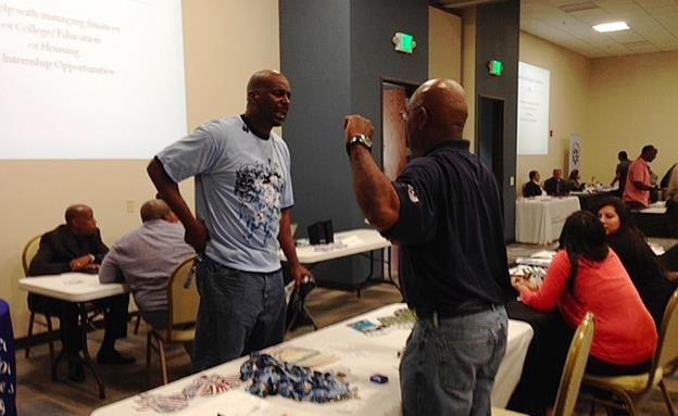The Antelope Valley Re-entry Coalition's one-stop resource fair on Wednesday, Oct. 14, provided 50 different vendors from the community with about 200 people in attendance. (Photo by Jim Winburn)