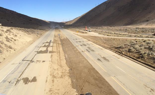Photo of State Route 58 via CHP.