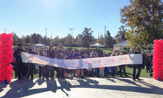 About 500 people gathered at Marie Kerr Park on Nov. 7 for the American Heart Association's Heart Walk to raise awareness and funds for the fight against heart disease and stroke. [contributed]